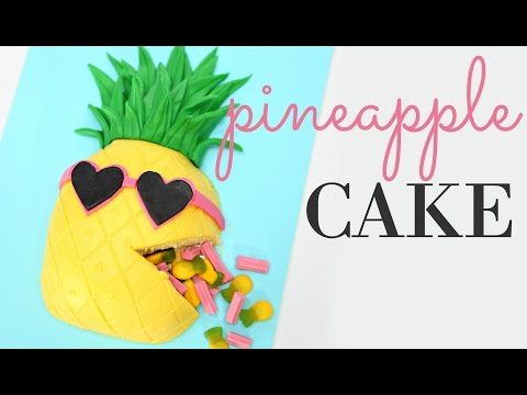 How To Make A PINEAPPLE Cake! - CAKE STYLE