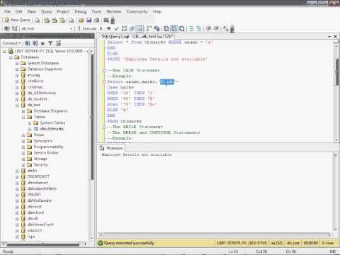 Part 21 Learn If , Case, While in Sql Server in Hindi tutorial for beginners