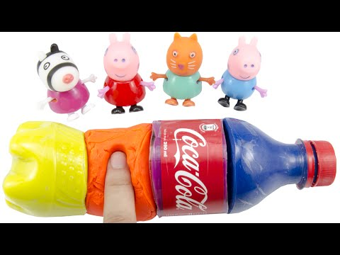 DIY How To Make 'Play Doh Coca Cola' Learn Colors Smiley Face Fun Surprise