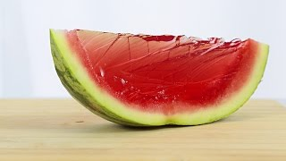 How to make Whole Watermelon Jelly - GIANT WATERMELON GUMMY