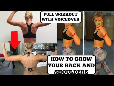 LEAN BACK AND SHOULDER WORKOUT || With Voiceover || GET STRONG