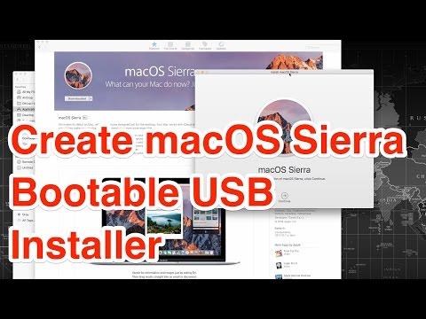 How to Create macOS Sierra Bootable USB Disk Installer?