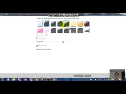 How To Change Taskbar Color Windows 7 In Hindi/urdu
