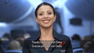 Delta Airlines B747-400 safety video