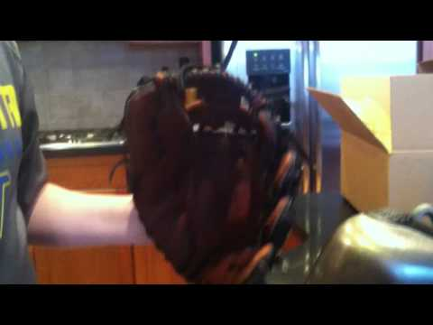 How to do the hot water treatment on a baseball glove