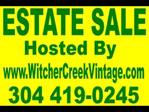 Witcher Creek Vintage Estate Sale! April 21-23, 2017-W. Second St Belle, WV!