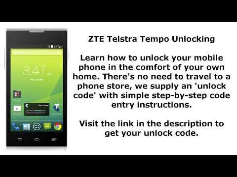 Unlock ZTE Telstra Tempo By Unlock Code