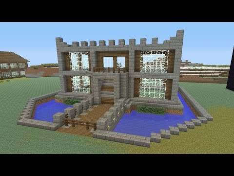 Minecraft Tutorial: How To Make A CASTLE!! Survival House (ASH#23)