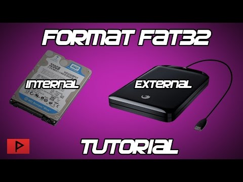 [How To] Format Internal or External Hard Drive as FAT32 Tutorial (Great for PS3!)