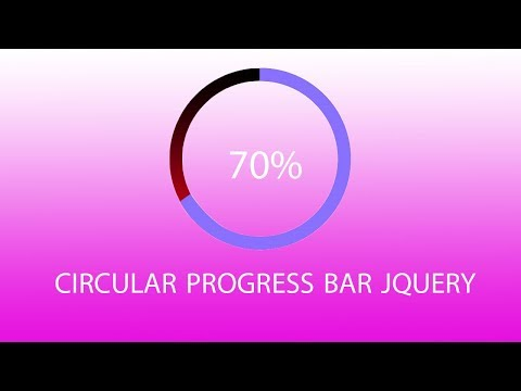Animated  Circular Progress Bar With Number Counter using jQuery with code