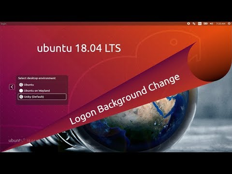 Ubuntu 18.04 LTS Logon Background Change