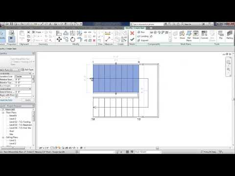 Learn how to use the Revit Stairs tool