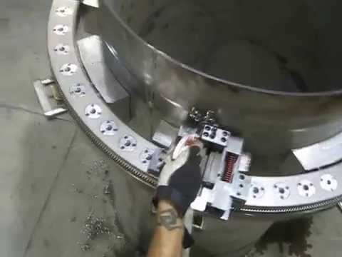 modifying splitframe capability to round and cut thin wall/aluminum pipe of all sizes