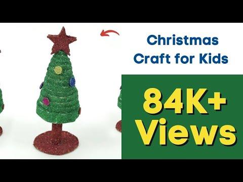 Newspaper Christmas Craft for Kids - DIY Christmas Tree