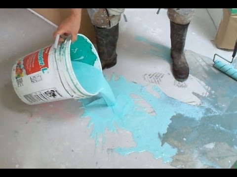 Concrete Primer Application before Using Self Leveling Underlayment Mapei DIY Mryoucandoityourself