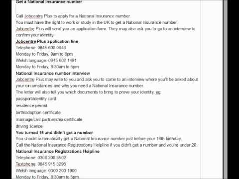 How to Apply National Insurance Number-UK-Polish Guidance