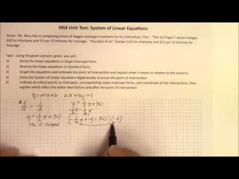 IH 012 Part 1 Writing Linear Systems