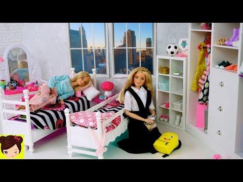 Xxx Mp4 Barbie Gemelas Rutina De Escuela Con Uniformes Desayuno Con Donas Habitacion De Muñecas 3gp Sex