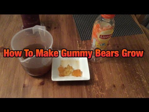 How To Make GummyBears Grow!!