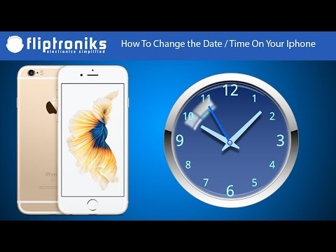 How To Change the Date / Time On Your Iphone - Fliptroniks.com