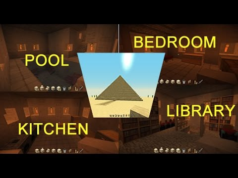 Minecraft: How to make a house inside the pyramid !!!!