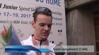 Allan Dahl Johansson And Tyson Langelaar After Mens 1500 Meters
