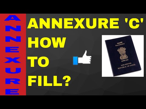 HOW TO FILL ANNEXURE 'C' FOR PASSPORT? ALL INFO WITH SAMPAL! ON YOUR DEMAND!! (HINDI)