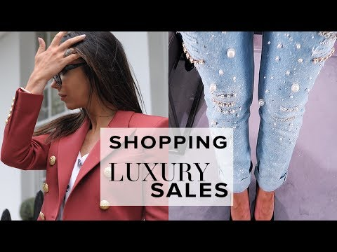 BUYING DESIGNER CLOTHES IN THE HARRODS SALE! | VLOG | Sophie Shohet