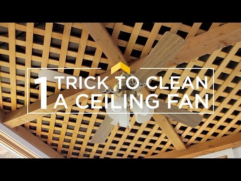 The Trick to Clean a Ceiling Fan with No Mess