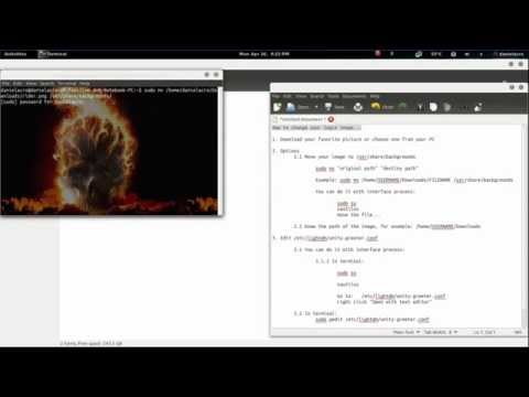 How to change your login image in ubuntu