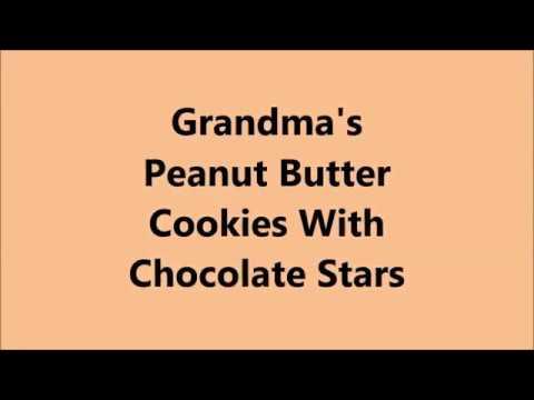 Grandma's Peanut Butter Cookies With Chocolate Stars