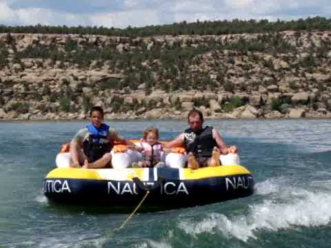 Brenna, Tanner and Kevin Tubing at Navajo