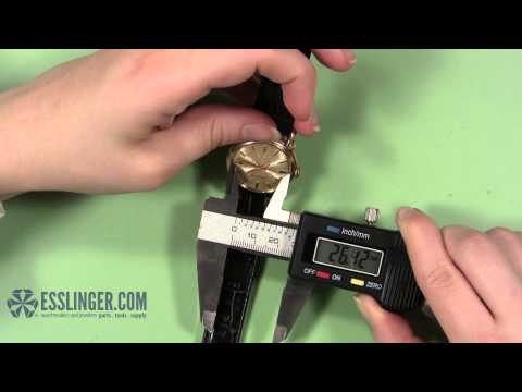 How to Measure a Domed Plastic Watch Crystal - Blank Bezel