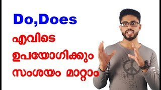 Communicative English Training in Malayalam | When we use Do & Does
