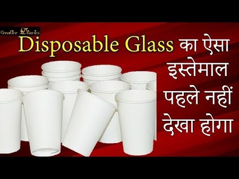 Very Easy way to use Disposal Tea cups I Easy Home Decor Idea I Creative Diaries