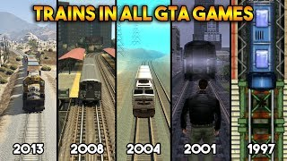 GTA : TRAINS IN ALL GTA GAMES! (WHICH IS BEST?)