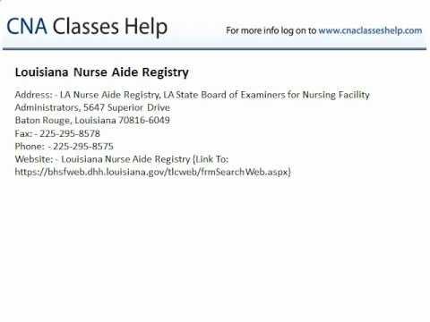 Louisiana Nurse Aide Registry