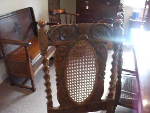Set of 8 Victorian Carolean dining chairs
