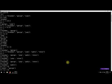 Learning Python 009: Sequence Slicing