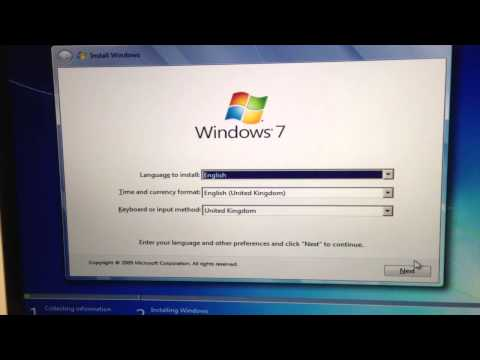 Issue 3: Frozen Install Windows select language screen via Boot Camp Mac Windows 7