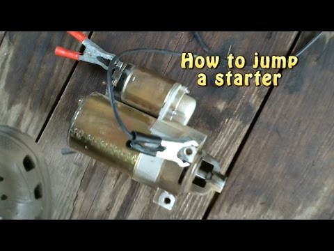 How to jump a starter.