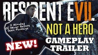 RESIDENT EVIL 7 NOT A HERO GAMEPLAY TRAILER 4K | RE7 Chris Redfield DLC