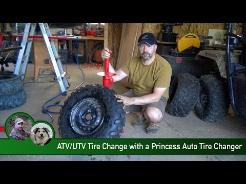 ATV/UTV Tire Change with a Princess Auto Tire Changer
