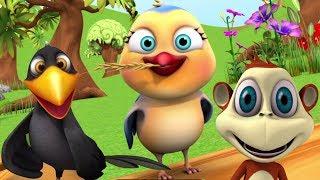 Chu Chu Karti Aayi Chidiya | चू चू करती आई चिड़िया | Little Treehouse India | Hindi Nursery Rhymes