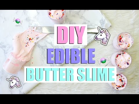 DIY EDIBLE UNICORN BUTTER SLIME!🦄🍬 - Easy & satisfying slime recipe