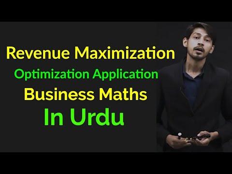 Applications of Derivatives - Revenue Maximization