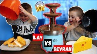 DEVRAN VS ILAY: CHOCOLADE FONDUE CHALLENGE!   LAKAP JUNIOR