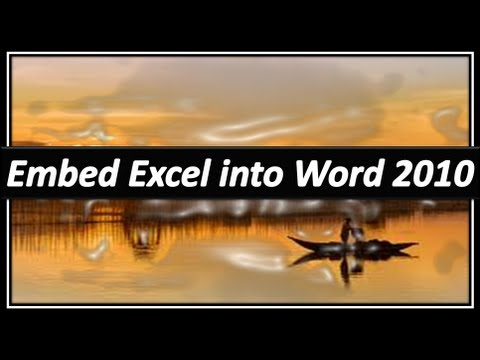 Embed Excel in Word - Microsoft Word
