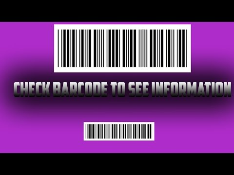 HOW TO CHECK BARCODE TO SEE INFORMATION
