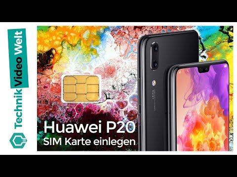 Huawei P20 (Pro) SIM Karte einlegen